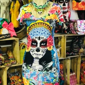 Mexican Catrina Dress Day of the Dead Muertos